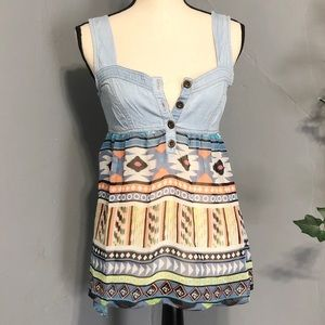 DOLLED UP by F.A.N.G. Aztec Tank Blouse